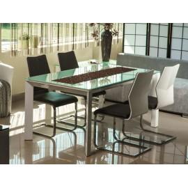 Stół biały rozkładany szkło PROMOCJA