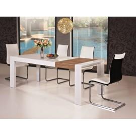 Stół biały rozkładany + dąb sonoma