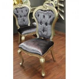 Krzesło Glamour 071 srebrne