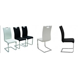 TRENTO krzesło tapicerowane na płozie