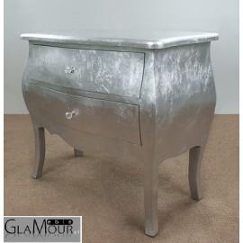 Komoda Glamour srebrna - wnętrza glamour
