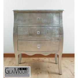 Komoda Glamour 026 srebrna - Wnętrza Glamour