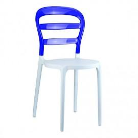 MISS BIBI krzesło z poliwęglanu różne kolory