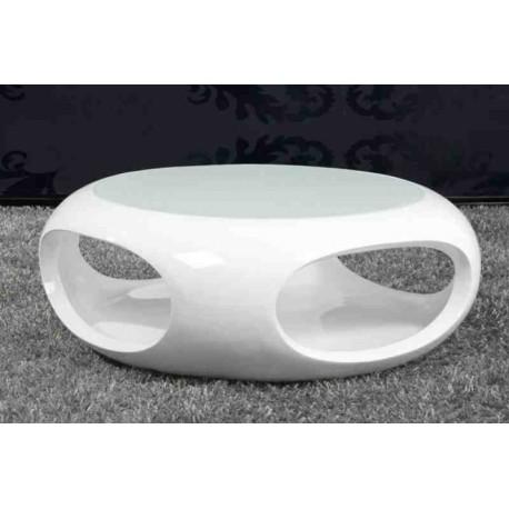 Stolik kawowy Spin biały lakier wysoki połysk