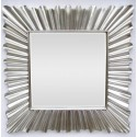 LUSTRO designerskie w srebrnej ramie 98x98