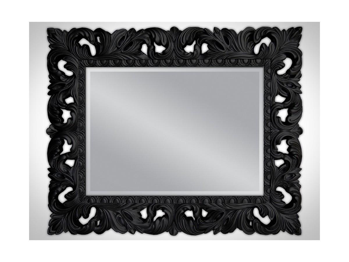lustro barokowe w czarnej ramie mebleglamourpl