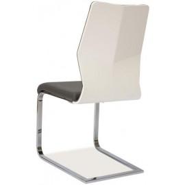 Krzesło H422 na płozie biały lakier