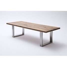 Casto stół z litego dębu postarzany