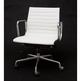 Fotel biurowy CH1171T biała skórachrom