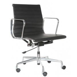 Fotel biurowy CH1171T czarna skórachrom
