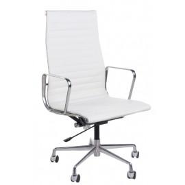 Fotel biurowy CH1191T biała skóra/chrom