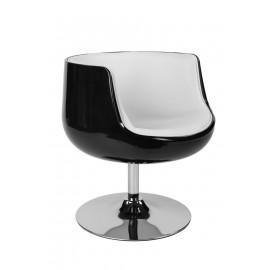 Fotel Cognac K-czarny S-białe (L)