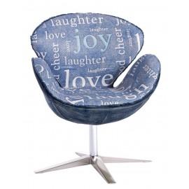 Fotel Cup nadruk niebieski - joy