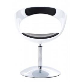 Fotel FLOP K- biały S- czarne
