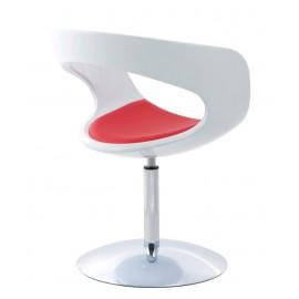 Fotel FLOP K- biały S- czerwone