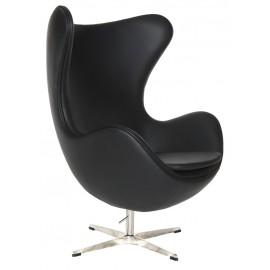 Fotel Jajo czarna skóra 06 Premium