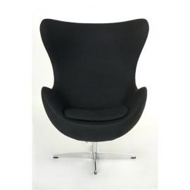 Fotel Jajo czarny kaszmir 1