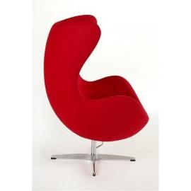 Fotel Jajo czerwony kaszmir 24
