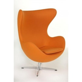 Fotel Jajo pomarańczowy kaszmir 11 Premium