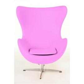 Fotel Jajo rożowy kaszmir B5