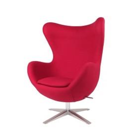 Fotel Jajo szeroki tkanina czerwony 2712