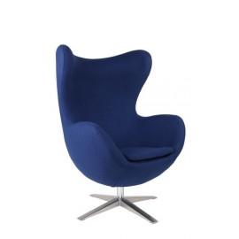 Fotel Jajo szeroki tkanina niebieska 2729