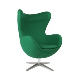 Fotel Jajo szeroki tkanina zielony 23