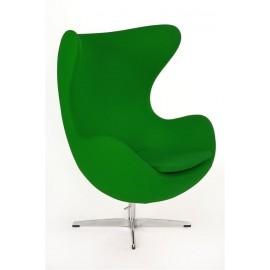 Fotel Jajo zielony kaszmir 35