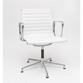 Fotel konf. CH1081 biała skóra