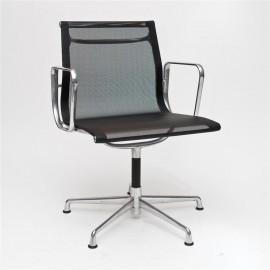 Fotel konf. CH1081 czarna siateczka