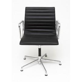 Fotel konf. CH1081Tczarna skóra chrom