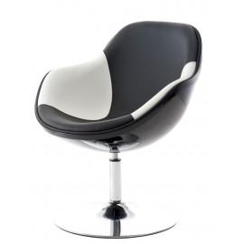 Fotel Pezzo K- czarny S-biało/czarne