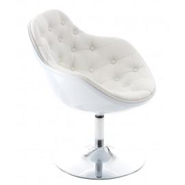 Fotel Pezzo pikowany K- biały S- białe