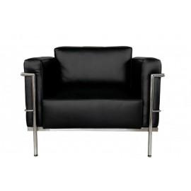 Fotel Soft GC czarna skóra