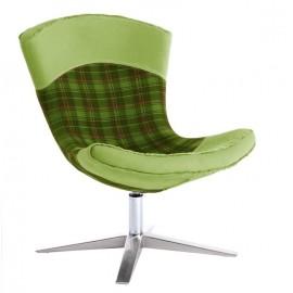 Fotel Swing krata zielony