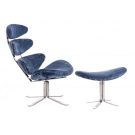 Fotel z podnóżkiem Spine jeans