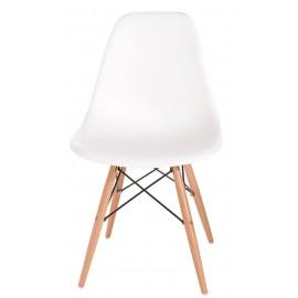 Krzesło P016W PP białe drewniane nogi