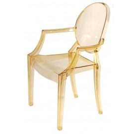Krzesło Royal żółty transparentny