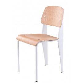 Krzesło School białe/natural