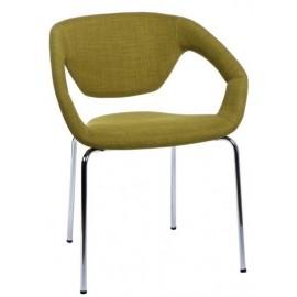 Krzesło Space tapicerowane oliwkowe