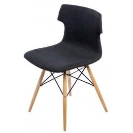 Krzesło Techno DSW tapicerowane grafitow e