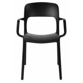 Krzesło z podłokietnikami Flexi czarne