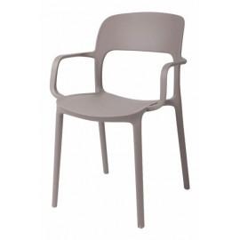 Krzesło z podłokietnikami Flexi mild gre y