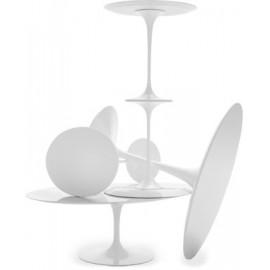 Stół Fiber o90 biały włókno szklane