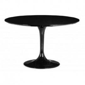 Stół Fiber o90 czarny MDF
