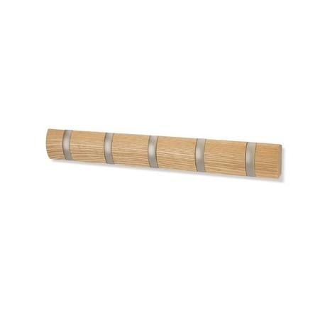 Wieszak 5 uchwytów drewno FLIP