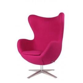 Fotel Jajo szeroki tkanina różowy 45