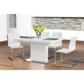 Evita Glass stół biały rozkładany