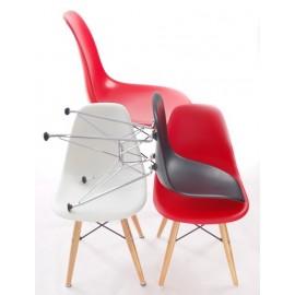 Krzesło JuniorP016 czerwone drew. nogi