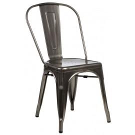 Krzesło Paris w kolorze metalu inspirowa ne Tolix